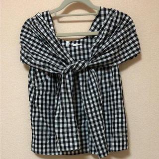 アンドクチュール(And Couture)のアンドクチュール ギンガムチェック ブラウス(シャツ/ブラウス(半袖/袖なし))
