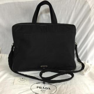 プラダ(PRADA)の本物 正規品 PRADA プラダ メンズ 2way ビジネスバッグ 黒 大(ビジネスバッグ)