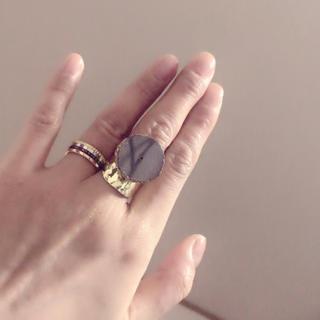 天然石 リング 指輪 ミラーグレー B(リング(指輪))