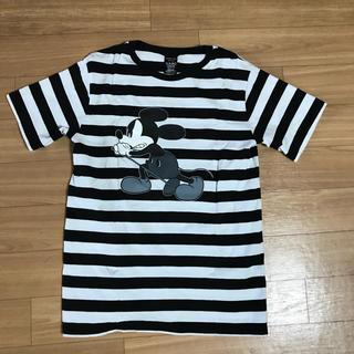 ナンバーナイン(NUMBER (N)INE)のnumber nine (n)ine tee ミッキー tシャツ ボーダー 白黒(Tシャツ/カットソー(半袖/袖なし))