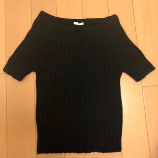 ジーユー(GU)のGU リブニット トップス 半袖(ニット/セーター)