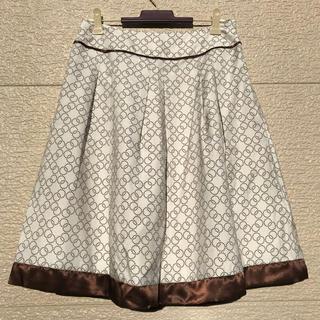 リフレクト(ReFLEcT)の美品 Reflect リフレクト スカート ブラウン 白 9(ひざ丈スカート)