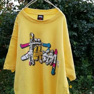 ステューシー(STUSSY)のSTUSSY yellow Big-T shirt  L size(Tシャツ/カットソー(半袖/袖なし))