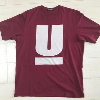 アンダーカバー(UNDERCOVER)の美品 undercover アンダーカバー ロゴTシャツ バーガンディ Lサイズ(Tシャツ/カットソー(半袖/袖なし))