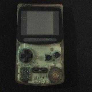 ゲームボーイ(ゲームボーイ)のゲームボーイカラー本体 電池蓋なし ジャンク品(携帯用ゲーム本体)