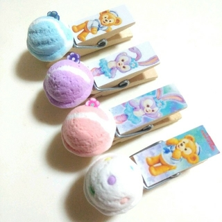 ダッフィー&ステラルーアイス木製ピンチ(マグネットシール付き)(その他)