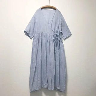ネストローブ(nest Robe)のネストローブ(nest robe)リネン ガーゼカシュクールワンピース(ロングワンピース/マキシワンピース)