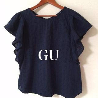 GU - GU✨フリル袖 ブラウス