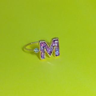 イニシャルM ピンク♯10(リング)
