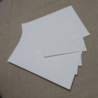 洋1ダイア二重封筒 コットン100% スノーホワイト パール 5枚 (その他)