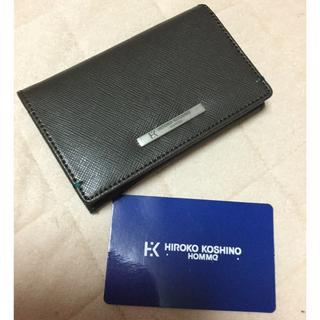 ヒロココシノ(HIROKO KOSHINO)のHIROKO KOSHINO HOMME 新品未使用 牛革名刺入れ(名刺入れ/定期入れ)