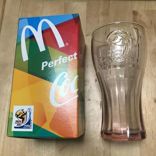 コカコーラ(コカ・コーラ)の【新品】マクドナルド 2010 ワールドカップ コーラグラス 非売品 赤(記念品/関連グッズ)