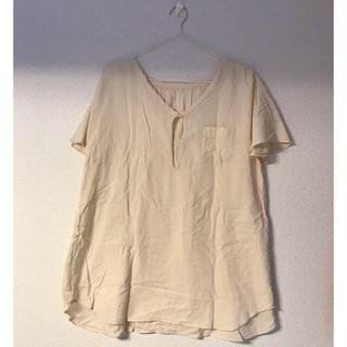 グリーンレーベルリラクシング(green label relaxing)のグリーンレーベルリラクシング    オフホワイトシャツ(Tシャツ(半袖/袖なし))
