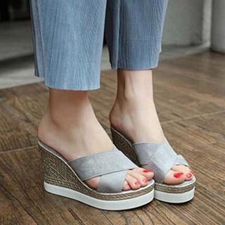 ♥ ウェッジソール サンダル レディース 厚底 歩きやすい 疲れない 靴(サンダル)