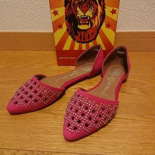 ジェフリーキャンベル(JEFFREY CAMPBELL)のJEFFREY CAMPBELLのピンクスエードスタッズ靴(その他)
