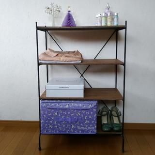 アイアンウッド 4段シェルフ(家具)