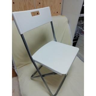 イケア(IKEA)の送料込みにしました❗IKEA パイプ椅子(ホワイト)(折り畳みイス)