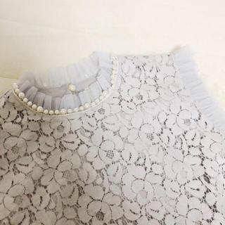 サンタモニカ(Santa Monica)のused  *  tulle lace tops(シャツ/ブラウス(半袖/袖なし))
