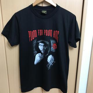 サンタモニカ(Santa Monica)の美品 マニー パッキャオ グラフィックフォト Tシャツ サイン BLACK(Tシャツ/カットソー(半袖/袖なし))