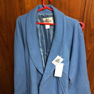 トヨボウ(東洋紡)の東洋紡 TOYOBO ウール・100% ブルーカラー タグ付き・新品・バスローブ(タオル/バス用品)