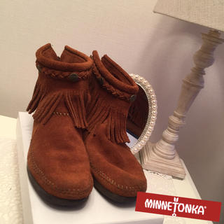 ミネトンカ(Minnetonka)の定価14580円 MINNETONKA モカシン ショートブーツ  (スリッポン/モカシン)