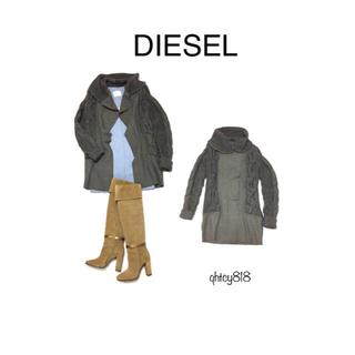 ディーゼル(DIESEL)のDIESEL オマケ付き ディーゼル 肉厚ニットコート(オンライン限定色) XS(ニットコート)