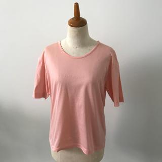 バランタインカシミヤ(BALLANTYNE CASHMERE)のバランタイン♡高級コットンTシャツ ピンク(Tシャツ(半袖/袖なし))