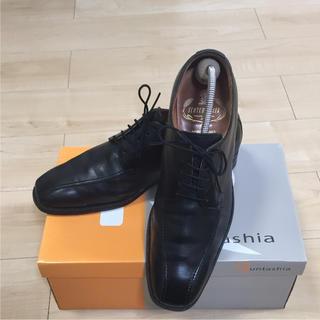 リーガル(REGAL)の美品 スコッチグレイン 黒  メンズビジネス革靴 24.5cm(ドレス/ビジネス)