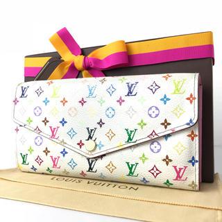 ルイヴィトン(LOUIS VUITTON)のルイヴィトン  ポルトフォイユ  新型サラ  マルチカラー  ピンク系  人気(財布)