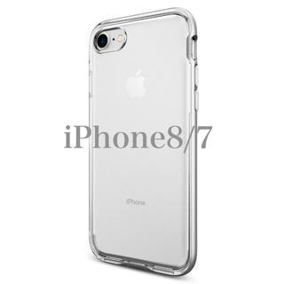シュピゲン(Spigen)の米ブランド iPhone8/7 バンパー 2重構造 クリスタル サテンシルバー(iPhoneケース)