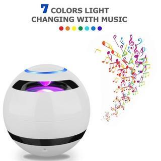 Bluetoothスピーカー 多色ライト付き 高音質 白 d6(スピーカー)