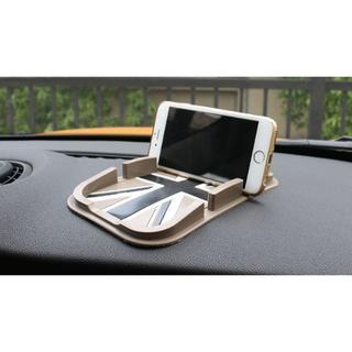 BMW - ミニクーパー ノンスリップマット スマホ ナビ 小物 収納 ブラックジャック柄