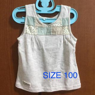 ラグマート(RAG MART)の《中古品》RAG MART パッチワークのタンクトップ(100)(Tシャツ/カットソー)