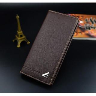 メンズ Thin wal 高級PUレザー 長財布 大容量 多機能 ブラウン 格安(長財布)