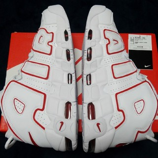 NIKE - NIKE AIR MORE UPTEMPO WHITE RED 27.5cm