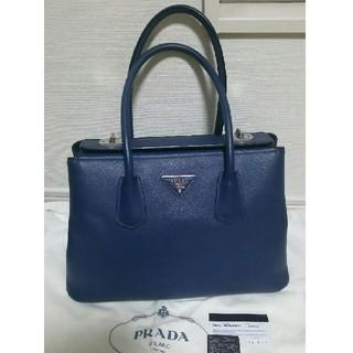 プラダ(PRADA)の◆定価40万円◆レア★PRADA ターンロック式バッグ ブルー プラダ (ハンドバッグ)
