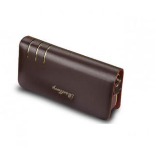 新品 メンズ Baellery PUレザー 長財布 セカンドバッグ ブラウン 茶(長財布)