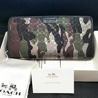 コーチ(COACH)のCOACH  迷彩柄  カモフラ  長財布  新品未使用品(長財布)