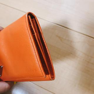 プラダ(PRADA)の確認用 プラダ オレンジ 財布(財布)