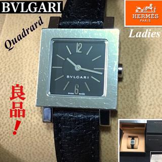 ブルガリ(BVLGARI)のBVLGARI/ブルガリ クアドラードレデース腕時計 クオーツ ブラック文字盤 (腕時計)