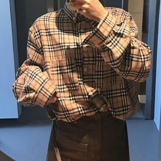❤かわいい❤ チェック柄 レトロシャツ 長袖