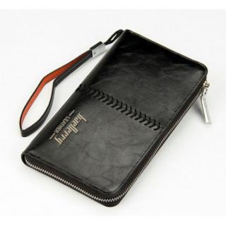 ☆新品 メンズ baellery 長財布 ブラック 黒 人気 格安 上質 大容量(長財布)