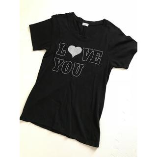 シェル(Cher)のcher ロゴTシャツ ブラック 黒(Tシャツ(半袖/袖なし))