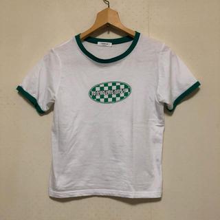 サンタモニカ(Santa Monica)のショート丈 ラグランシャツ マバタキ(Tシャツ(半袖/袖なし))