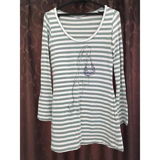 シェル(Cher)のcher ボーダーロングTシャツ ワンピース、チュニック(Tシャツ(長袖/七分))