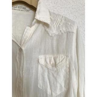 ゴア(goa)のgoa   アイボリー2wayシャツ(シャツ/ブラウス(長袖/七分))