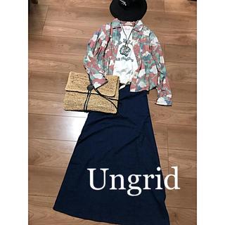 Ungrid - ☆Ungrid☆フラワープリントシャツ