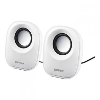iBUFFALO PC用スピーカー USB電源 ホワイト BSSP29UWH(スピーカー)