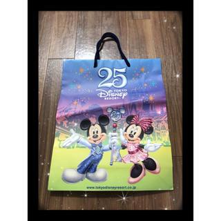 ディズニー(Disney)の⭐ディズニー ミッキー ミニー 25周年限定 ショップ紙袋⭐(ショップ袋)