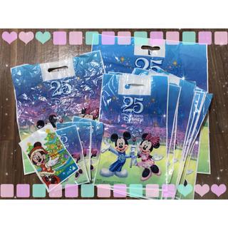 ディズニー(Disney)の⭐ディズニー ミッキー ミニー 25周年限定 ショップ袋⭐(ショップ袋)